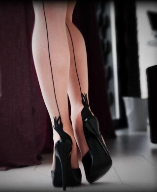 stockings-hiheel